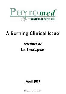 WEBINAR NOTES Inflammation: A Burning Clinical Issue - Ian Breakspear