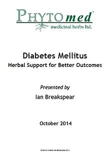 SEMINAR NOTES Diabetes - Herbal Support for Better Outcomes - Ian Breakspear